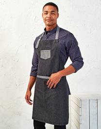 Domain Contrast Denim Bib Apron